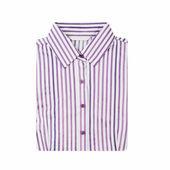 Striped folded shirt isolated on white background — Stock Photo