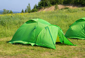 Camping tent in the nature. — Stock Photo