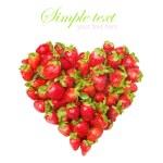cuore di fragole fresche — Foto Stock