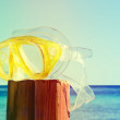 Scuba mask. summer is over — Stock Photo