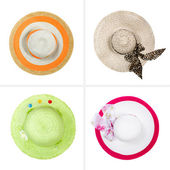 Collection of hats isolated on white background — Stock Photo