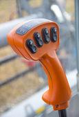 Machinery joystick — Stock Photo