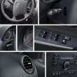 Car interior and dashboard collage — Stock Photo