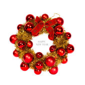 Christmas wreath isolated on a white background — Stock Photo