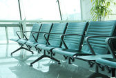 Contemporary lounge with seats in the airport — Stockfoto