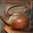 Old brown  teapot — Stock Photo