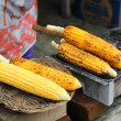 Corn is roasted on the grill. — Stock Photo