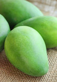 Pile green fresh mango — Stock Photo