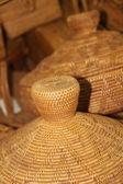 Bambu sepet içinde çarşı — Stok fotoğraf