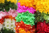 Indian traditional culture colorful garland — Stock Photo