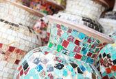 彩色马赛克的花瓶 — 图库照片