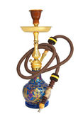 Arabic hookah isolated on a white background — Stock Photo