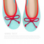 Mint summer flat shoes isolated on white background — Stock Photo