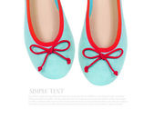Mint summer flat shoes isolated on white background — Stock Photo