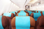 Passenger seats on the plane — Stock Photo