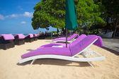 Beautiful beach without people — Foto Stock