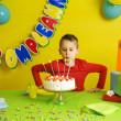 Child during his birthday party — Stock Photo