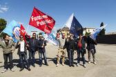 Italian Penitentiary Police Demostration — Stock Photo