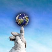 All over the world in your hand! — Stock Photo