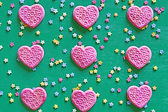 Hearts and Stars Background — Stock Photo