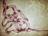 グランジ リボン背景 — ストック写真