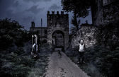 The Horror Castle, Halloween Collection — Stock Photo