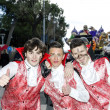 S.Egidio, Italy - March 2, 2014: Happy teenagers masked by vampires for Carnival 2014 — Stock Photo #42061879
