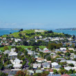Foto Stock: View over suburbDevonport towards North Head