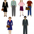 Stock Photo: People icons