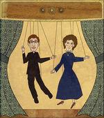 Vintage Puppet Theater — Stock Photo