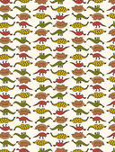 Cute Dinosaur Pattern — Stock Photo