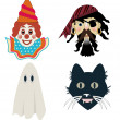 Kid's Halloween masks — Stock Photo
