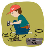The Electrician — Stock Photo
