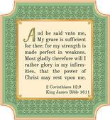 2 Corinthians 12:9 — Stock Photo