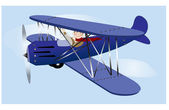 Flying Vintage Airplane — Stock Photo