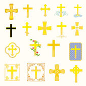 Crosses — Stock Vector