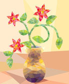 Low Poly Type Flower Arrangement — Stock Photo
