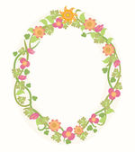 Summer Flower Frame — Stock Vector