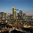 Skyline of Frankfurt at night - Stockfoto