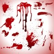 Vector de stock : Blood-Splashes-Vector