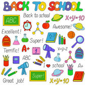 Back To School isolated objects set — Stockvector