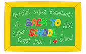 Back to School text on a board — Stock Vector