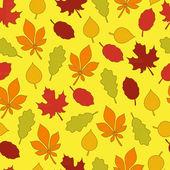 Herfstbladeren naadloze patroon — Stockvector