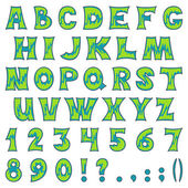 Alphabet with numbers — Stock vektor