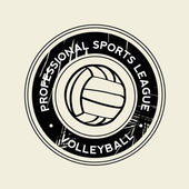 Símbolo de voleibol — Vetor de Stock