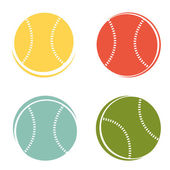 Baseball ball — Stock Vector