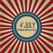 4th July background — Vektorgrafik