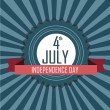 4th July symbol — Image vectorielle