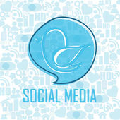 Abstract social media — Stock Vector