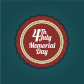 Memorial day stamp — Stockvector